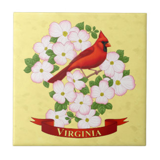 Virginia-Staats-Kardinals-Vogel und Fliese
