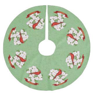 Virginia-Staats-Kardinals-Vogel und Polyester Weihnachtsbaumdecke