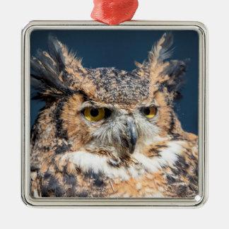 Virginia-Uhu-Porträt Silbernes Ornament