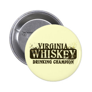 Virginia-Whisky-trinkender Meister Runder Button 5,7 Cm