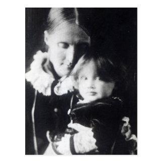 Virginia Woolf, mit ihrer Mutter Julia, 1884 Postkarte