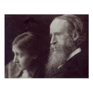 Virginia Woolf und ihr Vater Sir Leslie Postkarte