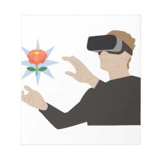 Virtuelle Realität Notizblock
