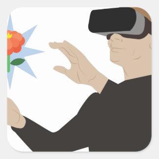 Virtuelle Realität Quadratischer Aufkleber