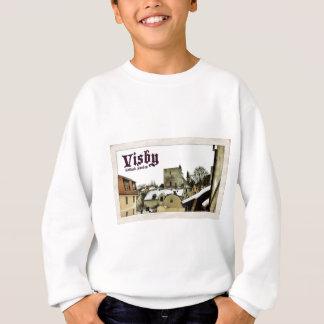 Visby, Vintage Postkarten-Art Gotland, Schweden Sweatshirt