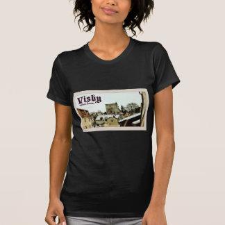 Visby, Vintage Postkarten-Art Gotland, Schweden T-Shirt