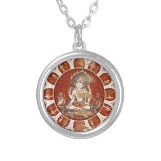 Vishnu Mandala Versilberte Kette