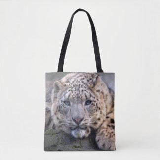 Vishnu Schnee-Leopard ganz über Druck-Tasche Tasche