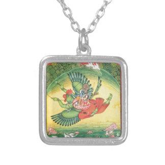 Vishnu und Lakshmi, die Garuda, das große reiten Versilberte Kette