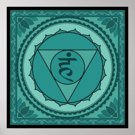 Vishuddhi oder Kehle chakra Plakat