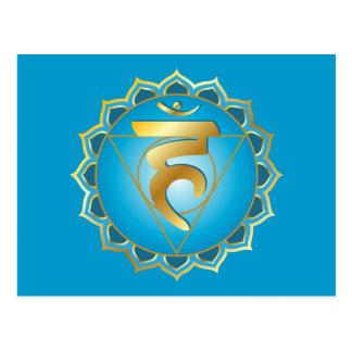 vishuddhi oder Kehle chakra Postkarte