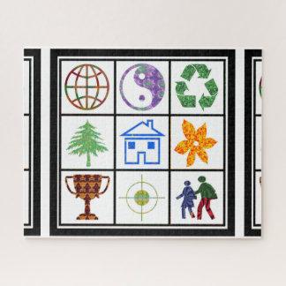 Visieren Sie das Weltspiel-Kugel yinyang recyceln Puzzle