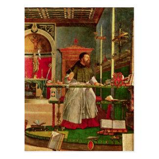 Vision von St Augustine, 1502-08 Postkarte