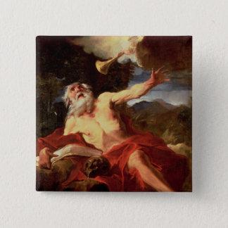 Vision von St Jerome Quadratischer Button 5,1 Cm