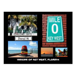 Visionen von Key West, Florida Postkarte