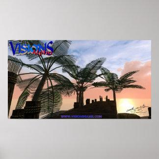 Visions-Plakat - Kourion Docks - unterzeichnet Poster