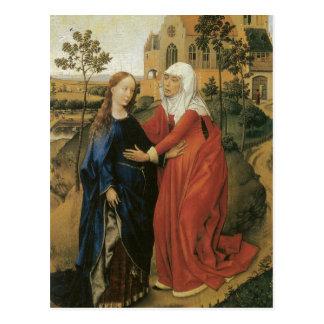 Visitation von Mary - Rogier van der Weyden Postkarte