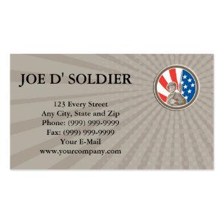 Visitenkarte-amerikanisches Soldat-Soldat-Bajonett