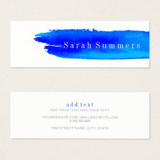 Visitenkarte - Aquarellbrushstroke-Blau