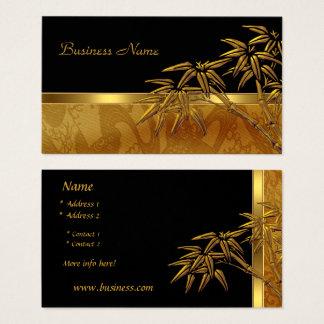 Visitenkarte-asiatischer schwarzer Goldbambus Visitenkarte