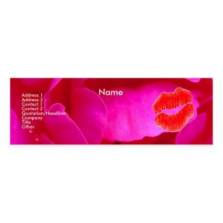 """Visitenkarte """"der Make-upkünstler-"""" Rosa-Rosen-I"""