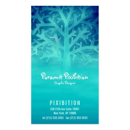 Visitenkarte (eisiger blauer Baum)