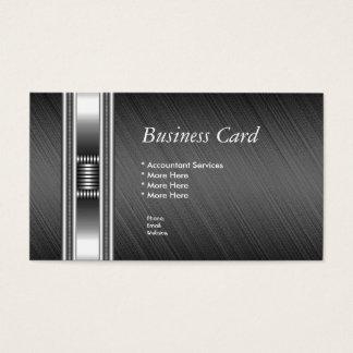 Visitenkarte-elegante silberne Chrom-Grau-Auslese Visitenkarten
