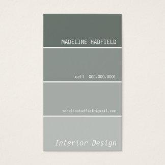VISITENKARTE-Farbenchip-Muster-Grausilber Visitenkarte
