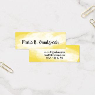 Visitenkarte fein Wasserfarben gelb