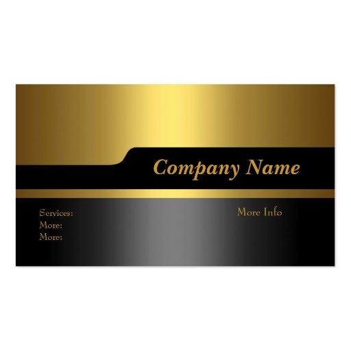 Visitenkarte-Firmenelegantes schwarzes Gold