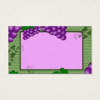 Visitenkarte Fruchttrauben der Trauben für den