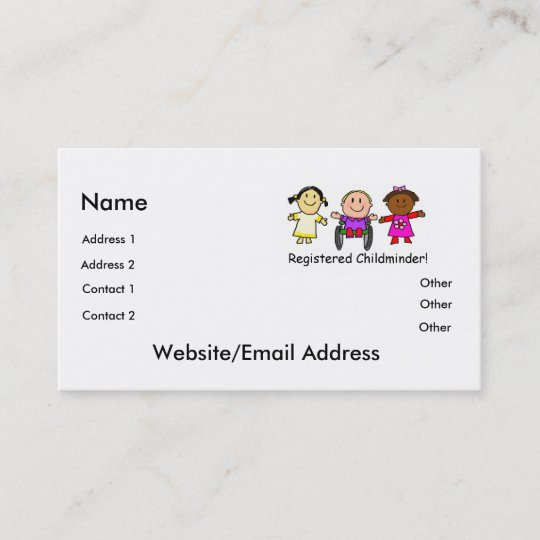 Visitenkarte Für Kinder Zazzle De