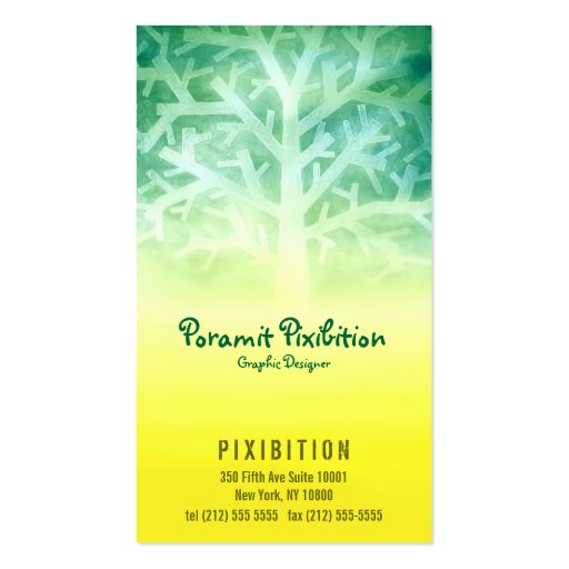 Visitenkarte-(gelber/grüner Baum)