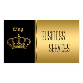 Visitenkarte-Goldschwarz-Krone Visitenkarten