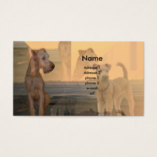 "Visitenkarte ""Irish Terrier"""