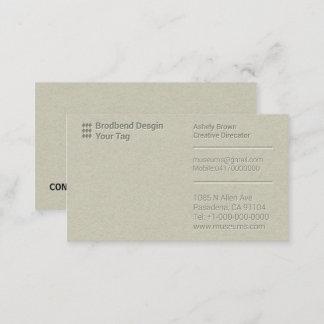 Visitenkarte Letterpress Business Man Company