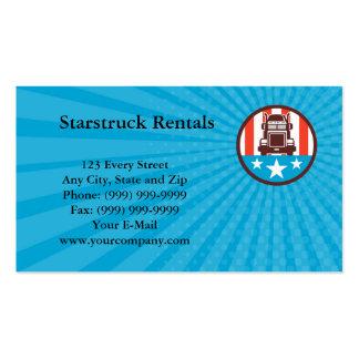 Visitenkarte-LKW USA-Flaggen-Kreis Retro Visitenkarten