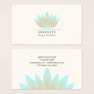 Visitenkarte - Lotus-Pastell