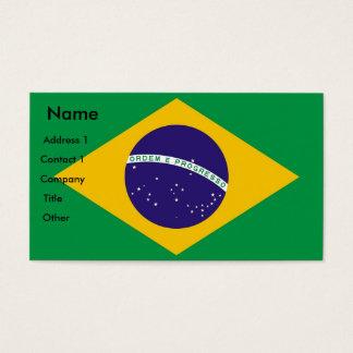 Visitenkarte mit Flagge von Brasilien