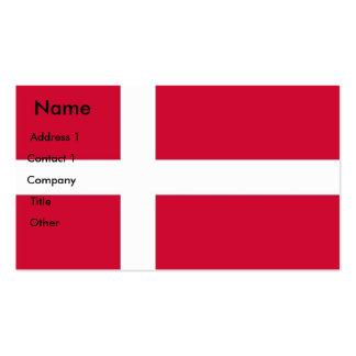 Visitenkarte mit Flagge von Dänemark