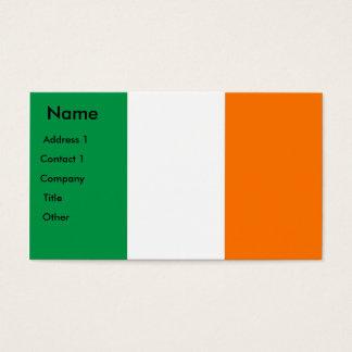 Visitenkarte mit Flagge von Irland