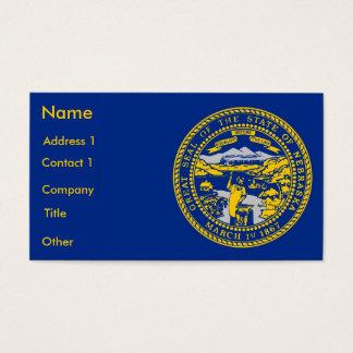 Visitenkarte mit Flagge von Nebraska USA