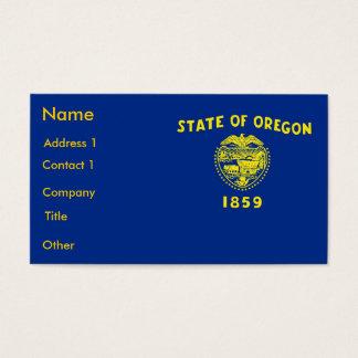 Visitenkarte mit Flagge von Oregon USA