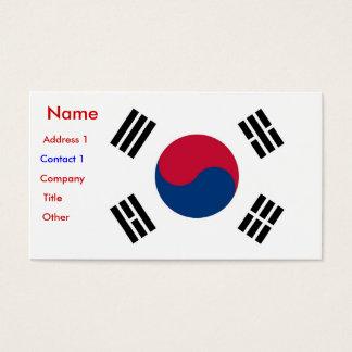 Visitenkarte mit Flagge von Südkorea