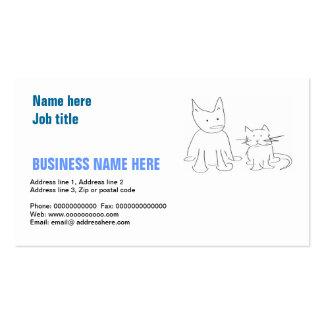 Visitenkarte mit Katze und Hund