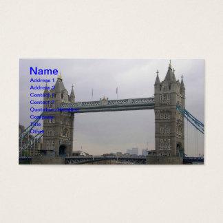 Visitenkarte mit Turm-Brücke über der Themse