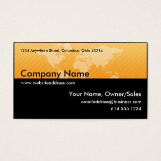 Visitenkarte:: Orange World-Karten-Entwurf 1 Visitenkarte