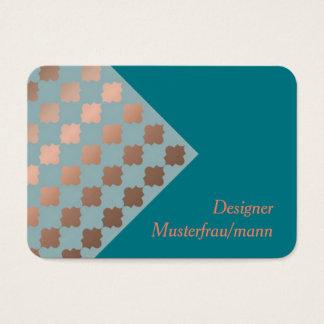 Visitenkarte, orientalischem Muster. Visitenkarte