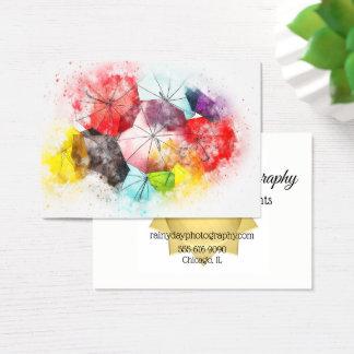 Visitenkarte-Regenschirm-Fotografen Decoraters Visitenkarte