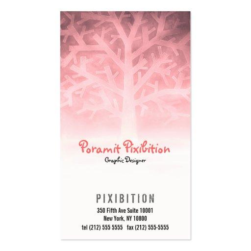 Visitenkarte (rosa Baum)